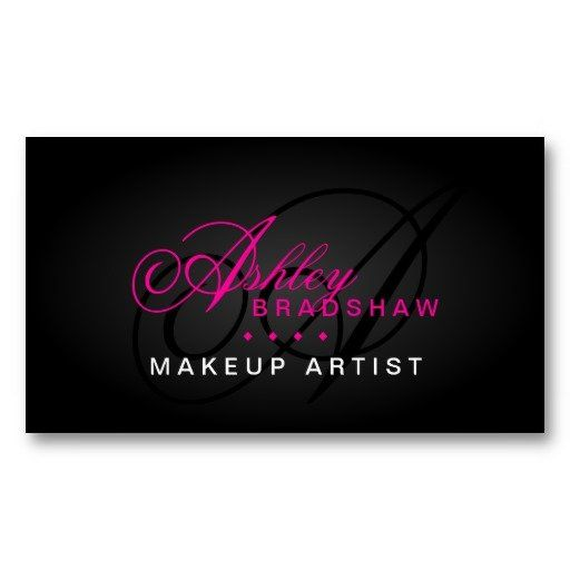 24 best makeup artist business cards images on pinterest card