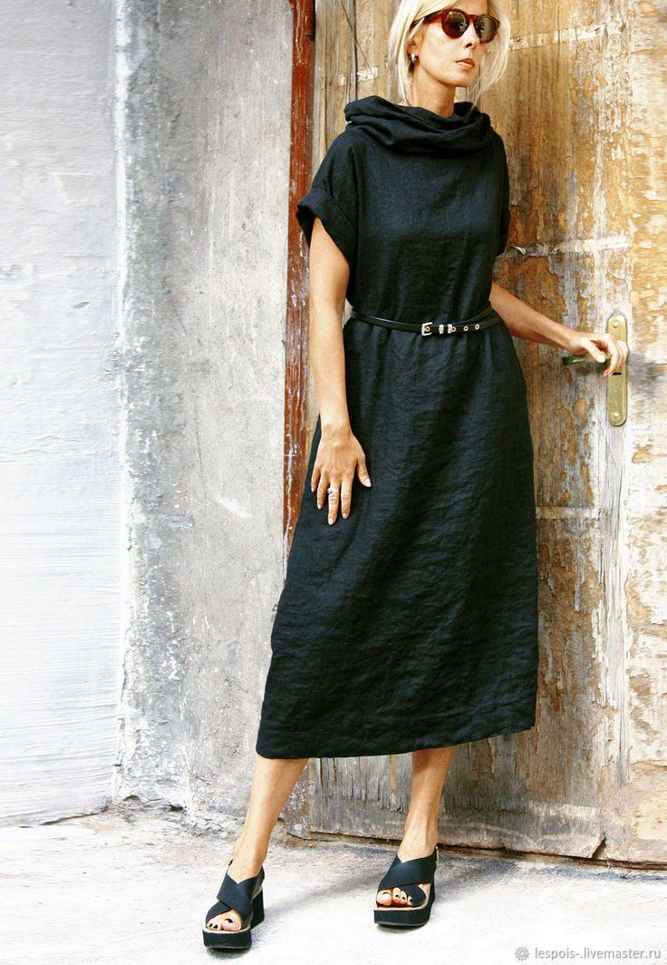 Купить Льняное платье в интернет магазине на Ярмарке Мастеров