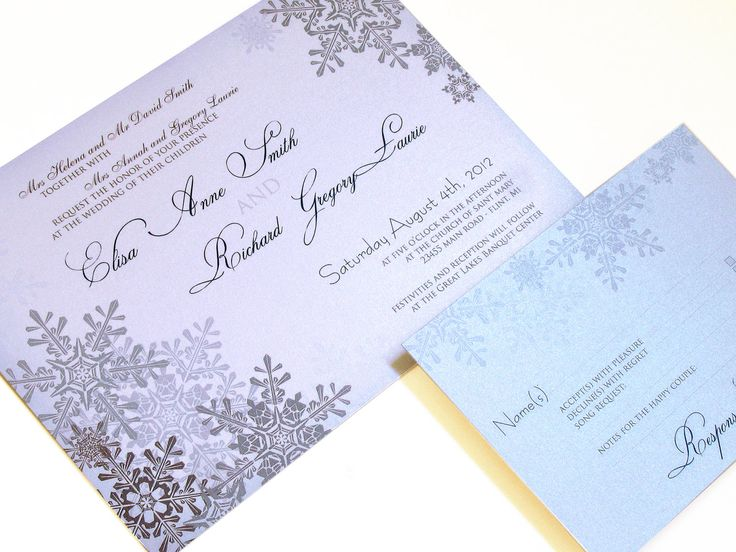 1808 best Winter Wedding Invitations images on Pinterest