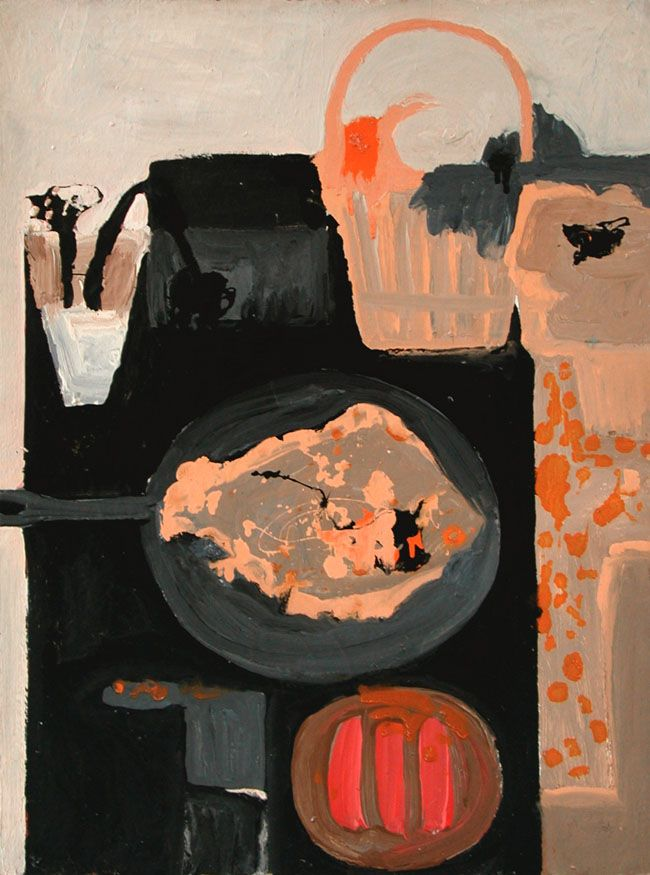 Margaret Mellis WomanAndFish II oil on canvas 1957
