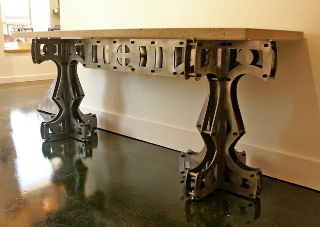Industrial Chic! Awesome Entry/hallway Table. Retro FurnitureIndustrial ...