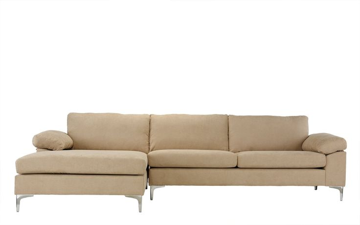 Luna Modern Sectional Sofa with Wide Chaise