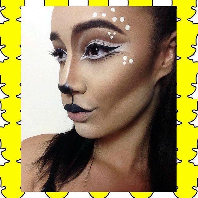 """♡Doe, a deer...a female deer...♡ Deer Makeup - Halloween makeup - Halloween deer - Doe - snapchat filter makeup • #jessicamakeupxx  (YOUTUBESNAPCHATTWITTER = """"JessicaLoves_x"""") •"""