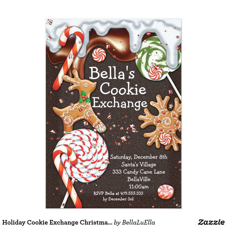 Holiday Cookie Exchange Christmas Party Invitation | Christmas ...