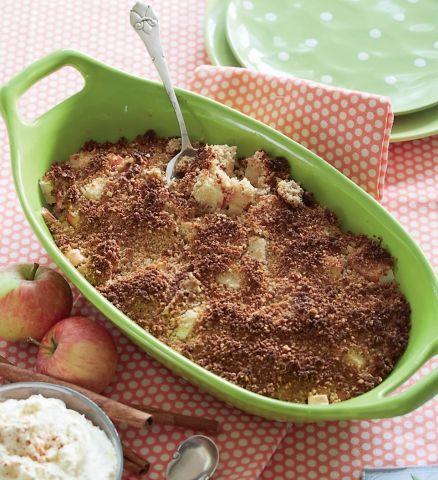 Æblesmuldrekage - klassisk æblekage