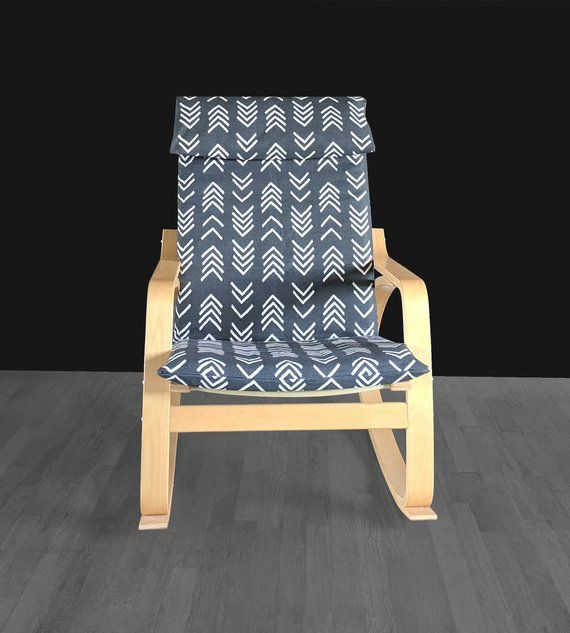 Black African Mudcloth 2019 Ikea Poang Cushion Seat Cover