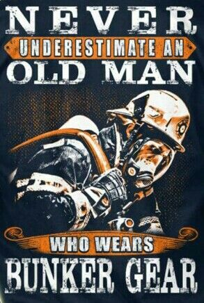Old man firefighter