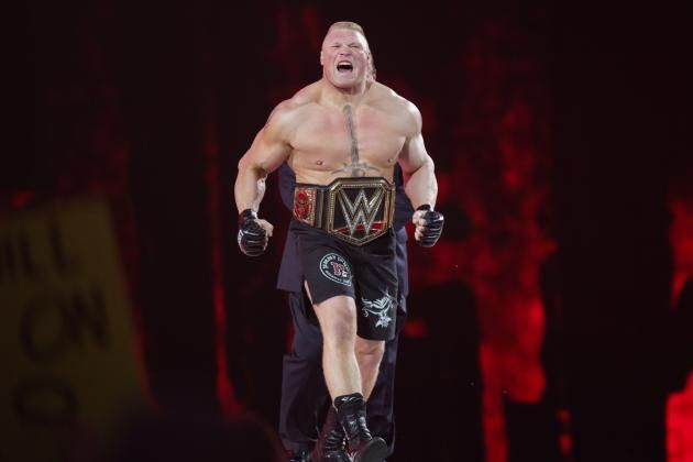 Brock Lesnar Returns to Raw, Will Face Seth Rollins at WWE Battleground 2015 ... WWE  #WWE