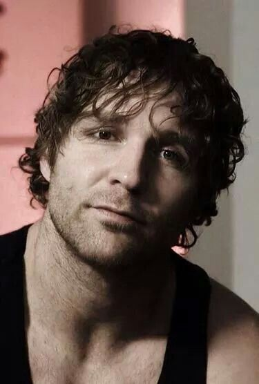 """Dean Ambrose - This is such a soft, sweet picture of Ambrose that it almost doesn't even look like him. I guess I'm too used to the """"eff you"""" expression that's constantly on his face."""