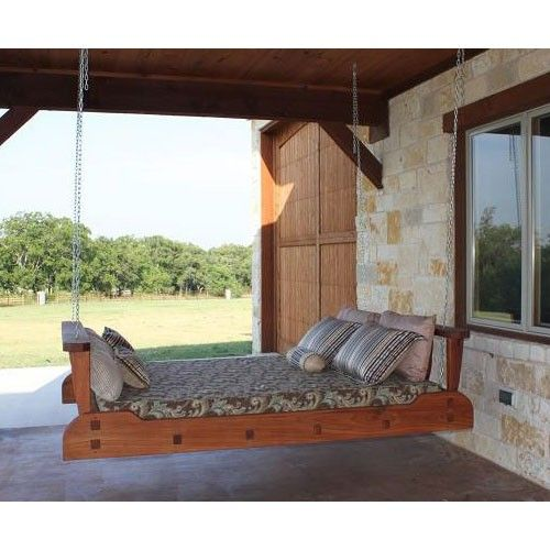 17 best images about porch beds hanging on pinterest for Outdoor hanging bed swing