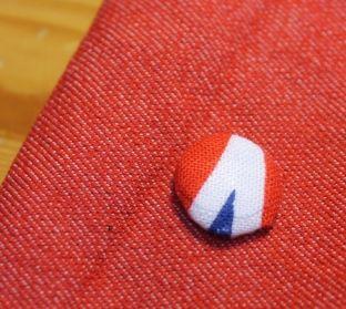 recouvrir un bouton pression de tissu