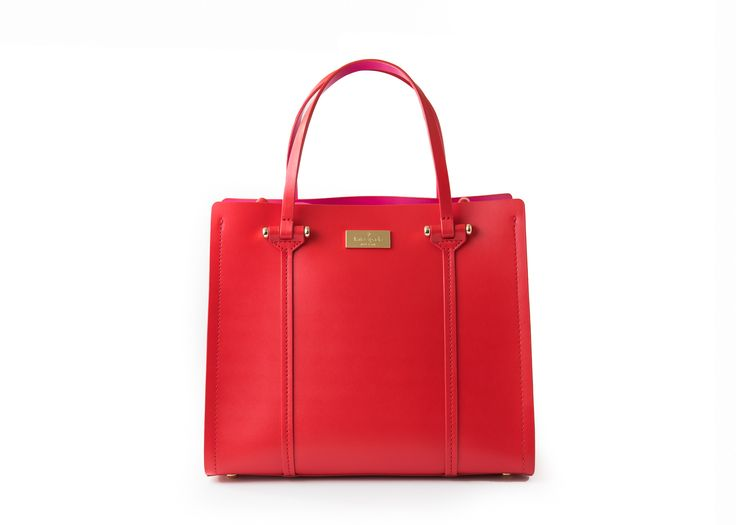 Kate Spade WKRU3036 Small Elodie Arbour Hill Cherry Red Tote Bag