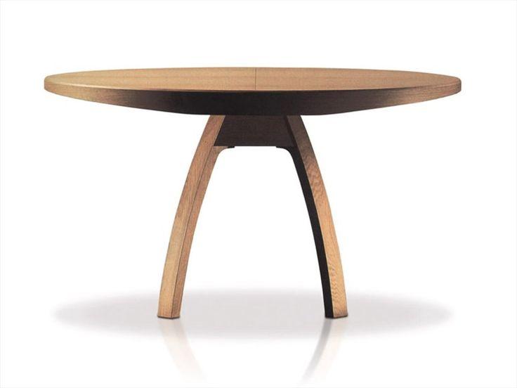 Mesa extensível de carvalho BRAMANTE Coleção Triangolo Collection by ESTEL | design Enrico Tonucci