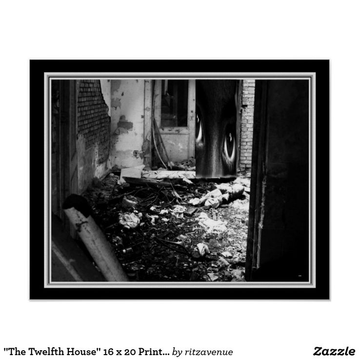 The twelfth house 16 x 20 print by joco white styleblack