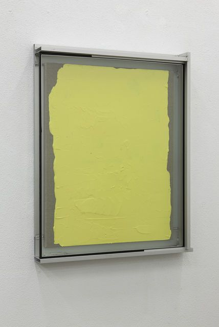 Pedro Cabrita Reis . les couleurs suite (the small ones), the yellows #1, 2014