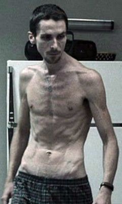 Christian Bale lost an enormous amount of weight for the lead role in The Machinist. One of my favourite movies.