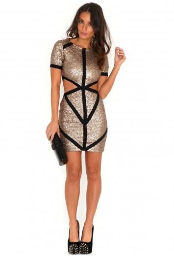 Monta Sequin Cut Out Dress £45.99 http://www.missguided.co.uk/monta-permium-sequin-cut-out-dress #party #season - Need this in my life... x
