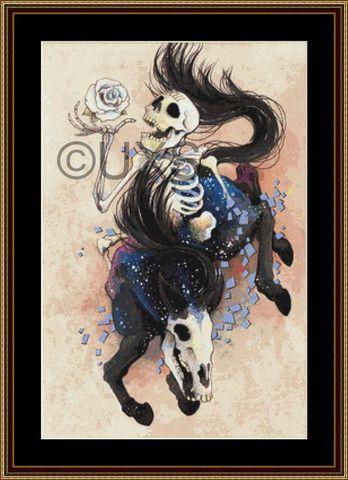 Modern counted cross stitch kit Death XIII Tarot Card – Unconventional X Stitch