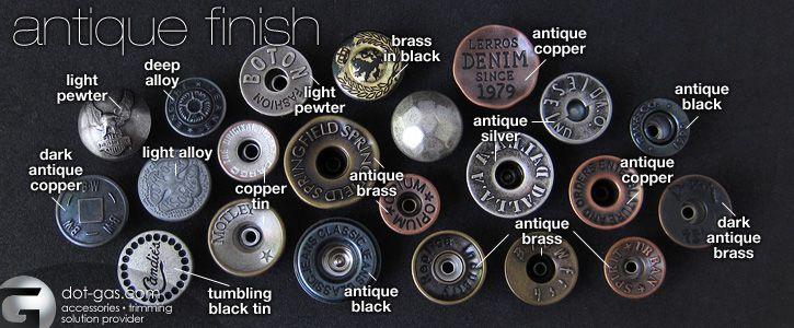 antique jeans buttons