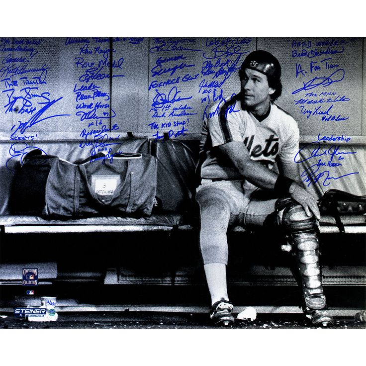 1986 New York Mets Team Signed & Inscribed Gary Carter Tribute 16x20 Photo (LE/50) (27 Signatures)