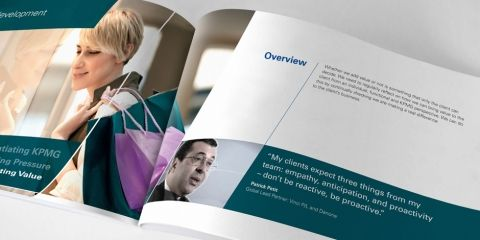 KPMG had produced a series of videos discussing best practice principles. We were asked to design a supporting booklet featuring further guidance.