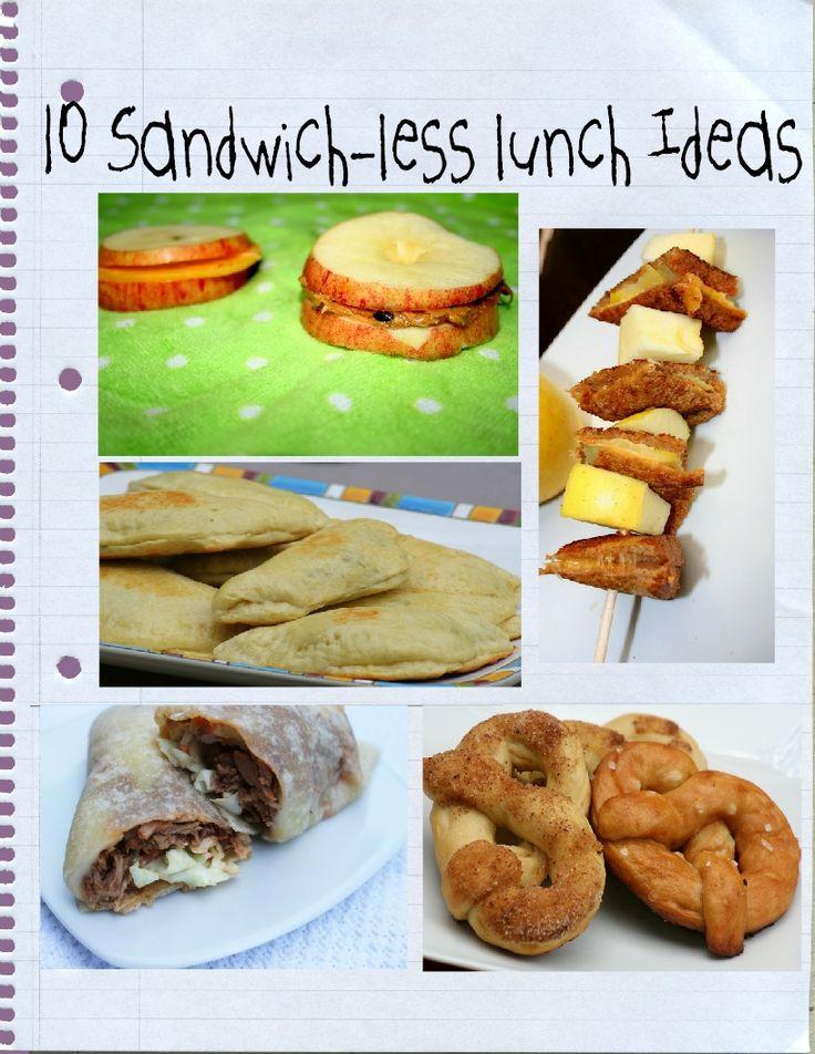 10 sandwich-less lunch ideas Love the corn dog muffin pops idea!
