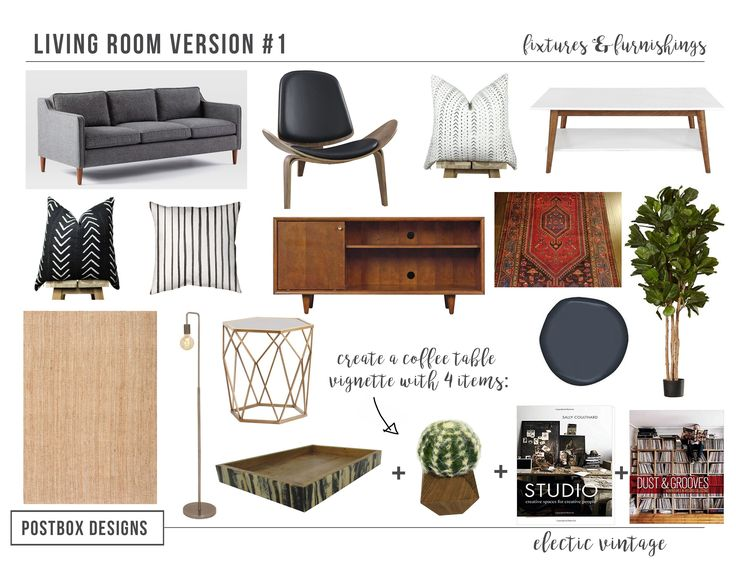 Modern Boho Living Room Mood Board By Postbox Designs E Design Real Project