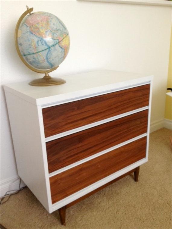 Refinished Mid Century Modern Dresser