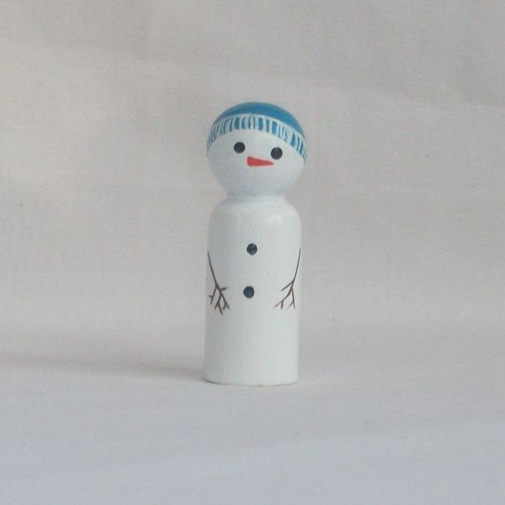 snowman peg ~ if I made this it would me remind me of my stay in New Jersey!