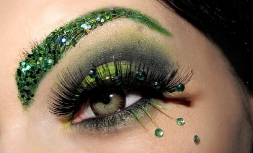 green eye makeup different-eye-makeup
