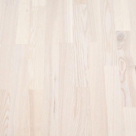 #Parkettgolv Ask vitlackad 3-stav 13,5mm, 279 kr/m²