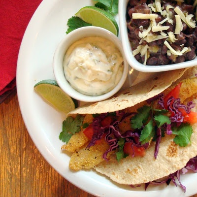 ... with Jalapeno-Lime Sauce and Spicy Black Beans | A Spicy Perspective