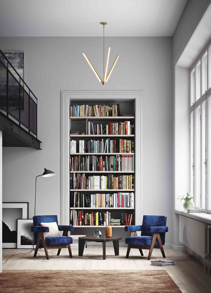 Frame built-in shelf in this bright and airy space - home library design -★-