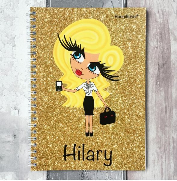 Gorgeous HunniBunni Diary on the gold glitter effect background.  ❤www.hunnibunniboutique.co.uk