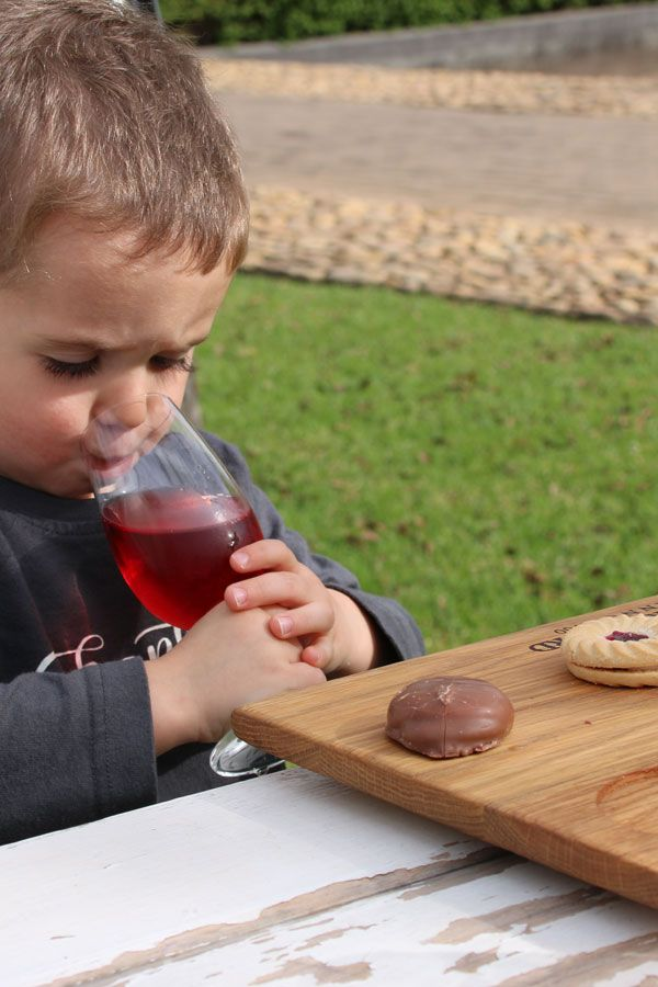 Kids grape juice tasting at Lourensford Wine Estate is great fun for kids, while mom and dad wine taste.