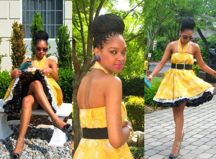 Styles for box braids bun with dress