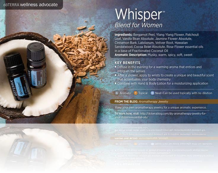 Doterra whisper essential oils blend