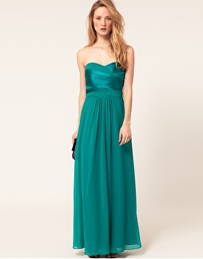Enlarge Coast Satin Maxi Dress With Pleat Detail