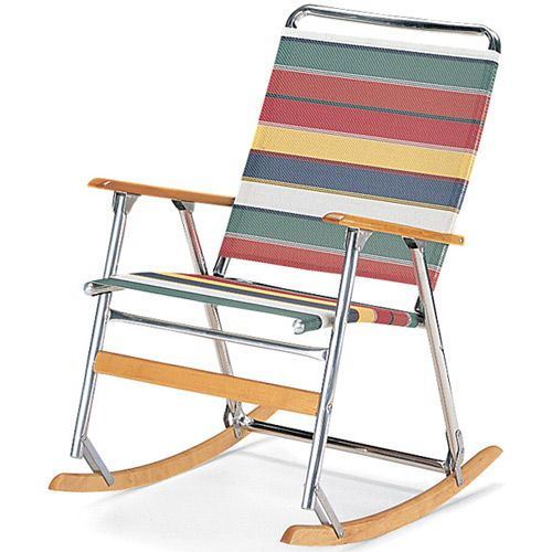 Elegant Folding Rocking Lawn Chair