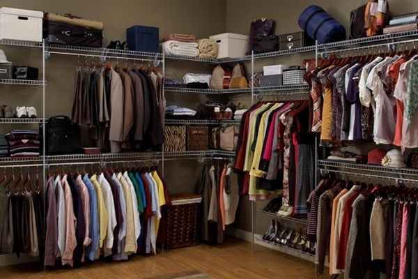 Do It Yourself Home Design: Walk In Closet Organizers Clothes Rods Wire Shelves