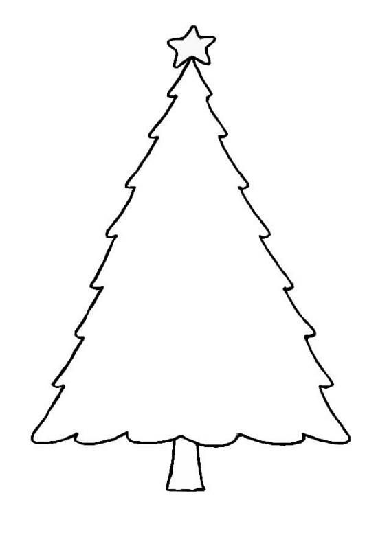 Blank Christmas Tree Outline Printable Template Clip Art