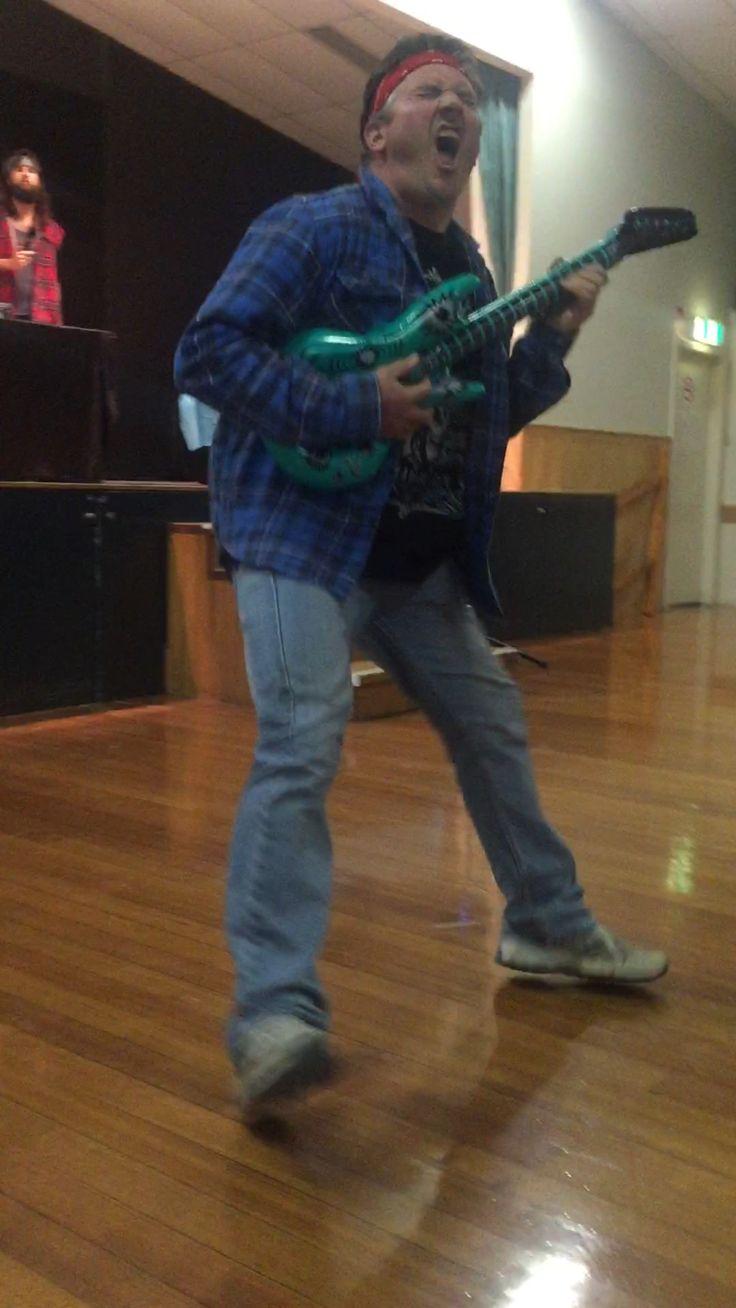 Air guitar champ - Rosco!