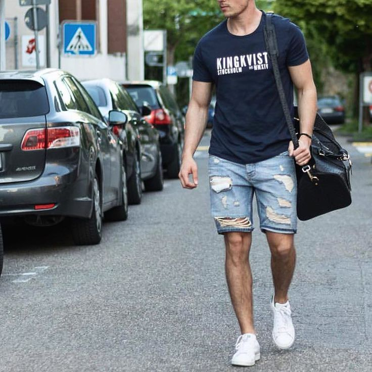 T shirt and #distressed shorts by @konny100 [ http://ift.tt/1f8LY65 ]