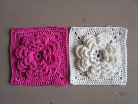 riasquilts: Gehaakte bloem (Flower Granny)