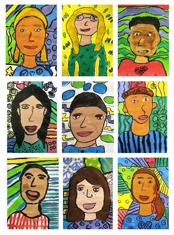 ART AUCTION Matisse Self Portrait Art Lesson