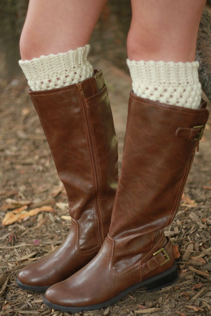 Cream Boot Cuffs, Teen Boot Socks, Boot Socks for Women, Crochet Boot Cuffs, Boot Toppers, Boot Accessories, Gifts for Teen Girls, Knit Cuff by foreverandrea on Etsy