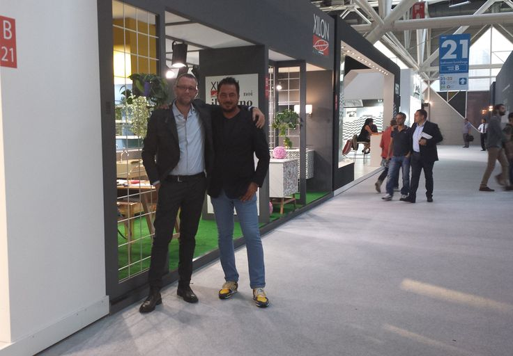 Franco and Carlo in front of Xilon's stand at Cersaie 2014.
