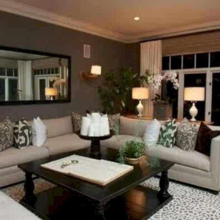 61 Stunning Brown Leather Living Room Furniture Ideas