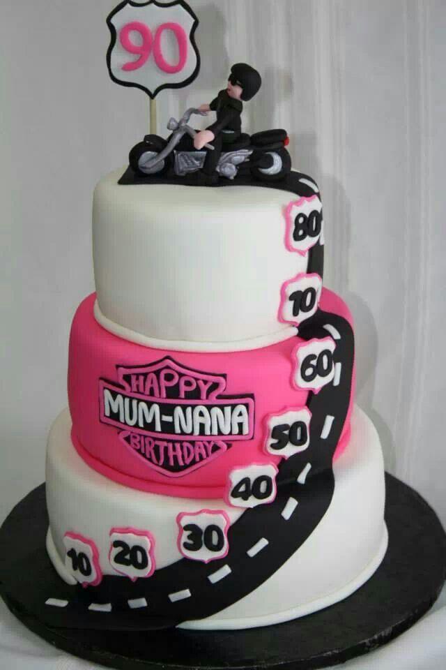 Birthday Harley Davidson Cake Cakes Pinterest The O