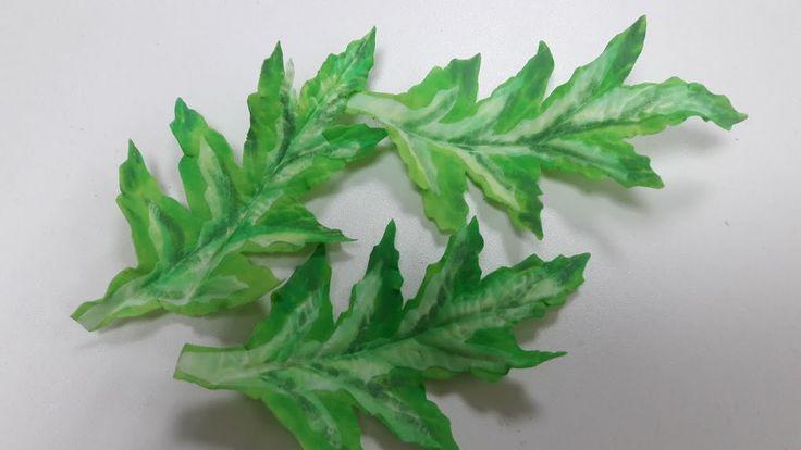 МК. Листья для цвитов мака с зефирного фоамирана!